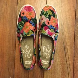 Like new Keds Rifle Paper Co sneakers